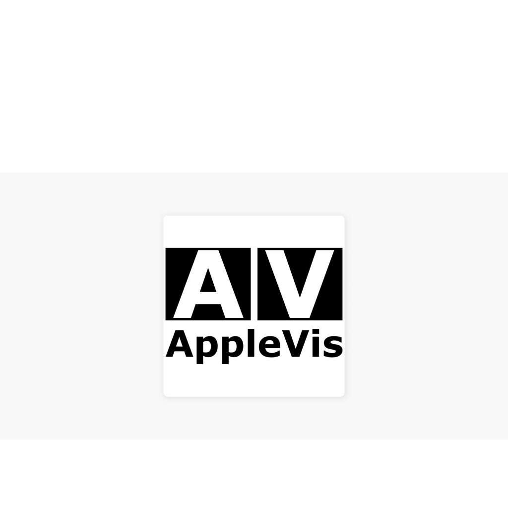 Logo du site AppleVis